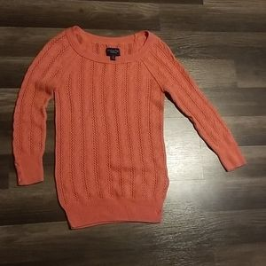 American eagle outfitters knitted coral sweater xs